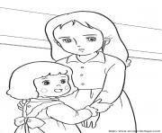 princesse sarah 73 dessin à colorier