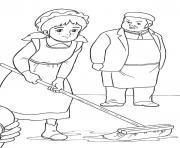 princesse sarah 81 dessin à colorier