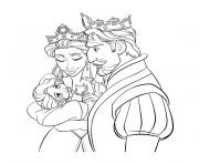 Coloriage la reine des neiges bebe princesse 172