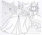 Coloriage cendrillon princesse 18