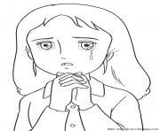 princesse sarah 142 dessin à colorier