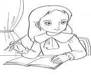 princesse sarah 22 dessin à colorier
