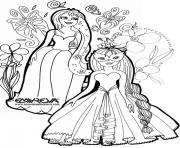disney princesse 217 dessin à colorier