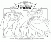 Coloriage disney princesse frog