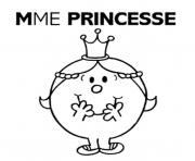 Coloriage mme madame princesse 2