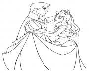 aurore princesse 16 dessin à colorier