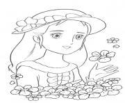 princesse sarah 5 dessin à colorier