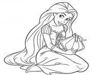 princesse raiponce 18340 dessin à colorier