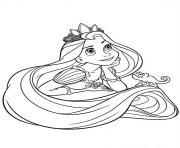 princesse raiponce 18529 dessin à colorier