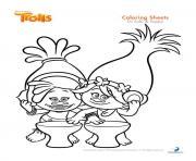 dj suki poppy trolls dessin à colorier