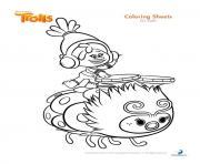 dj suki trolls dessin à colorier