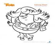 lady glittersparkles trolls dessin à colorier