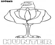 cigognes et compagnie Hunter film dessin à colorier