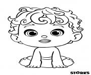 le bebe du cigognes et compagnie film dessin à colorier