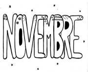 Coloriage Novembre Automne Est Arrive Dessin Novembre à imprimer