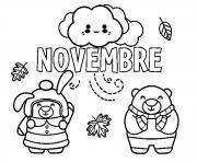 novembre maternelle dessin à colorier
