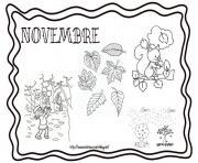 novembre paysage automne dessin à colorier