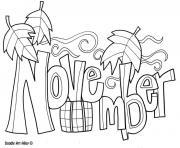 Coloriage mois de novembre 5 dessin