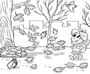 novembre automne pour enfants dessin à colorier