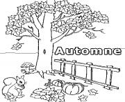 novembre automne dessin à colorier