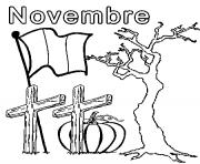 novembre dessin à colorier