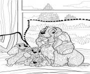 Coloriage adulte disney anti stress puppies 2