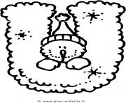 alphabet noel lettre u dessin à colorier