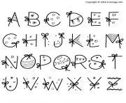 alphabet noel christmas dessin à colorier