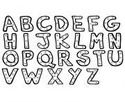 alphabet noel complet az dessin à colorier
