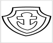 pat patrouille ecusson dessin à colorier