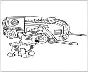 pat patrouille super engin dessin à colorier