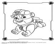 Ruben Rubble le bulldog anglais de la Pat Patrouille dessin à colorier