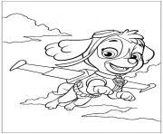 pat patrouille en vol dessin à colorier