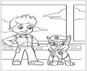 pat patrouille le meilleur ami de l homme dessin à colorier