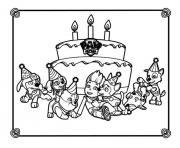 anniversaire avec la Pat Patrouille dessin à colorier