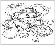 fait tomber les pommes pat patrouille aille dessin à colorier