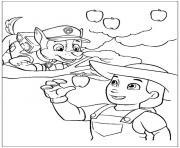 pat patrouille mais que fais tu la dessin à colorier