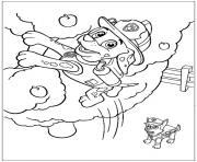 pat patrouille mission a haut risque dessin à colorier