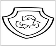 pat patrouille mission recyclage dessin à colorier