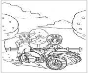 pat patrouille quad dessin à colorier