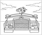 pat patrouille vehicule dessin à colorier