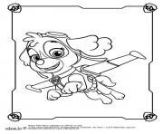 Stella Skye en plein vol pat patrouille dessin à colorier