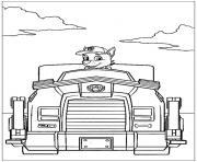 pat patrouille vehicule 2 dessin à colorier