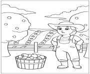 pat patrouille le plein de pommes dessin à colorier