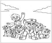 pat patrouille mission acomplie dessin à colorier