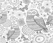 anti stress animaux fleurs dessin à colorier