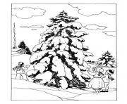 Coloriage noel adulte traditionnel 01