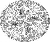adulte noel mandala dessin à colorier