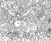 Coloriage dessin adulte antistress inspiration zen 36 dessin