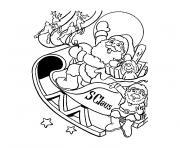 pere noel 137 dessin à colorier